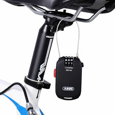 ABUS Cycling Bike Bicycle Ultralight Password Cable Lock Portable Black