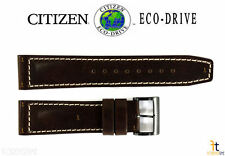 Citizen Eco-Drive BM8478-01L 22mm Brown Leather Watch Band Strap R007726