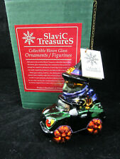 "New! Halloween Glass Ornament ""Creepy Cruiser"" SlaviC TreasureS vintage"