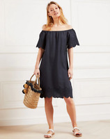 White Company Linen Bardot Broderie Dress  RRP £55   (SS20)