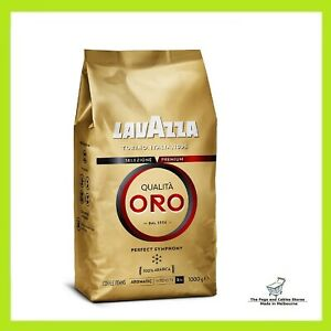 Lavazza Qualità Oro, 100% Arabica, Medium Roast Coffee Beans, Pack of 1kg-AU