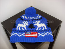 POLO RALPH LAUREN WOOL HOLIDAY HAT W/POMPOM**NEW WITH TAG**
