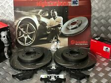 BMW 330CI 330D 330i E46 BREMBO FRONT DRILLED & GROOVED DISCS & PADS 99-05 325MM