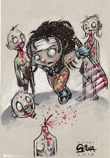 Little Michonne Walking Dead Sketch Original Art