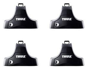 Thule 754 Foot Pack Roof Rack Bars Set of 4 Includes Locks
