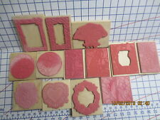 13 New wm rubber Stamps in MotionStained Glass-Frames- Asian-Florals-Garden-card