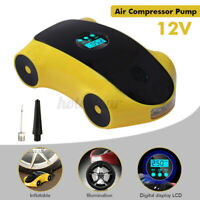 12V 120W Portable Electric Digital Car Tyre Air Inflator Pump Auto LED