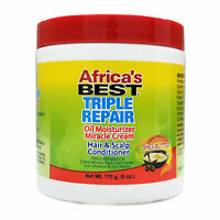 AFRICA'S BEST TRIPLE REPAIR OIL MOISTURIZER HAIR & SCALP CONDITIONER 6OZ