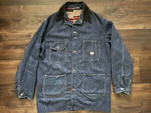 Vintage 40s 50s Sears Hercules Strong Reliable Denim Chore Jacket Blanket USA