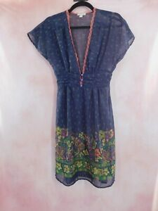 Urban Outfitters Womens Sheer Kimchi Blue Dress Size XS
