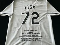 Carlton Fisk Signed Autographed Gray Stat Jersey JSA COA Chicago White Sox Great
