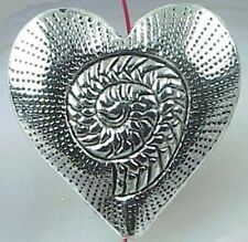 1 Silver Pewter Heart Focal  Bead 30mm ~ Lead-Free ~
