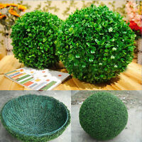 Home Decoration Outdoor Green Plant Ball Tree Artificial Boxwood Fake Tree NEW