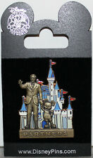 2008 WDW MAGIC KINGDOM PIN ~WALT DISNEY & MICKEY MOUSE PARTNERS STATUE CASTLE~