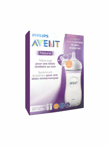 Avent - Natural Feeding Bottle 6 Month Teats CLEAR 330ML 2 PACK Baby Drink