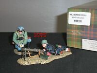 KING AND COUNTRY WSS190 GERMAN MG42 MACHINE GUN INSTRUCTION TOY SOLDIER SET
