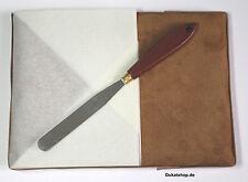 Vergolderkissen +Windschutz + klein. Messer f.Blattgold Blattsilber Schlagmetall