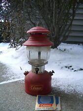original SUNRISE GLOBE untested Vtg1956 Red Coleman Pressure Lantern 200A