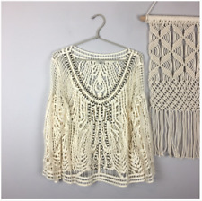 Urban Outfitters Ecote Crochet Lace Crop Top with Studs - size Small