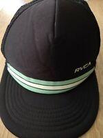 RVCA Men's Foamy Trucker Snapback Hat Black