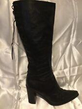 Miu Miu Black Leather Knee High Boots Size 38