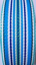 Blue Multi Stripe Lawn Chair Webbing 2 1/4 Inch Wide 100 Foot Long Roll