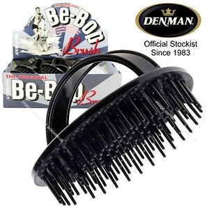 Denman D6 Be-Bop Massage Scalp Brush BLACK Superb Quality Fast Delivery