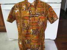 Waikiki Restaurants Hawaiian shirt loud 1970s vintage advertising  or uniform