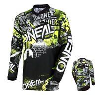 Oneal Element Jersey Attack MX Downhill Enduro Motocross Shirt schwarz neon gelb