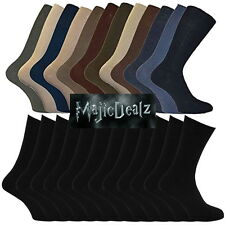30 Pairs Mens Black/Assorted Colours Cotton Rich Socks Shoe Size 6-11 Mega Value