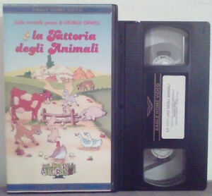 VHS Ita Animazione LA FATTORIA DEGLI ANIMALI Eagle Home Video no dvd cd lp (V23)