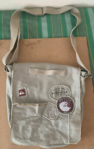 Quiksilver Beige Satchal Bag Hand Made Rugged Design