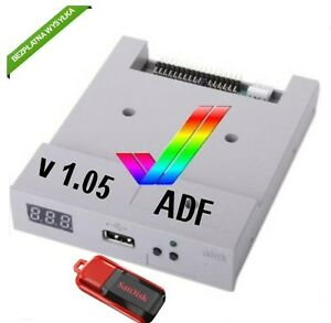 Gotek USB FlashFloppy 2.0 grey Amiga-Atari-Amstrad-PC-music keyboards + 16GB pen