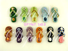 24 CUTE CRYSTAL FLIP FLOP PENDANT WHOLESALE MADE WITH SWAROVSKI ELEMENTS