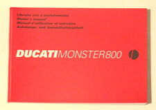 DUCATI MONSTER 800 GENUINE FACTORY HANDBOOK /03
