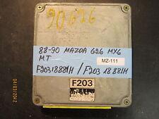 88 89 90 MAZDA 626 MX6 M/T ECU/ECM #F20318881H *see item description*