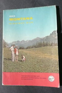 1959 Montana official highway state road map