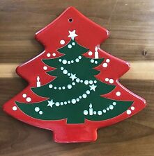 WAECHTERSBACH RED CHRISTMAS TREE TRIVET / PLAQUE - GERMANY - MINT