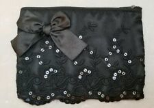 "Lace Clutch Small Bag 7.5""x6"" Black Handmade"
