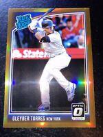 2018 Optic Gleyber Torres RC Bronze Holo Prizm SP Rookie New York Yankees