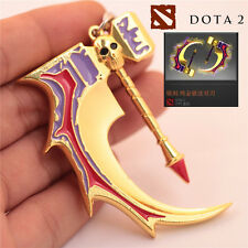 Dota 2 Golden Basher of Mage Skulls Anti-Mage Weapon Model Keychain Key Ring New