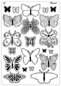 Pergamano Multi Grid No 31 Perforating Parchment Butterflies 2 -  31440
