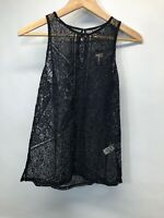 Express Blouse Top Lace Sheer Sleeveless NEW draft Small $49