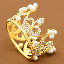 Wedding Bridal Crown Jewelry Pearl Queen Princess Crown Crystal Hair Accessor Nt