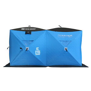 CLAM Portable 6 x 12 Ft C-720 Pop Up Ice Fishing Thermal Hub Shelter Tent (Used)