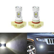 2x White Reflector Led Fog Light Bulb For Jeep Grand Cherokee 11-13 PSX24W Bulbs