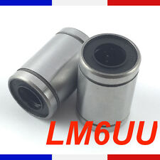 Roulement lineaire LM6UU 6mm Linear Ball Bearing imprimante 3D France Reprap