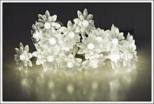 LED Blumen Lichterkette 20 LED - Blumenlichterkette Batterie Kette Blumenkette