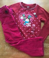 6X Toddler//Girls Flapdoodles $57-$59 3pc Floral Vest//Shirt//Leggings Set Sz 2T