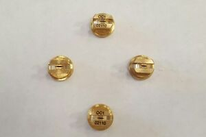 4 x Brass 110 Degrees Fan Spray Nozzle Tips, Assorted Sizes Spare/Accessories